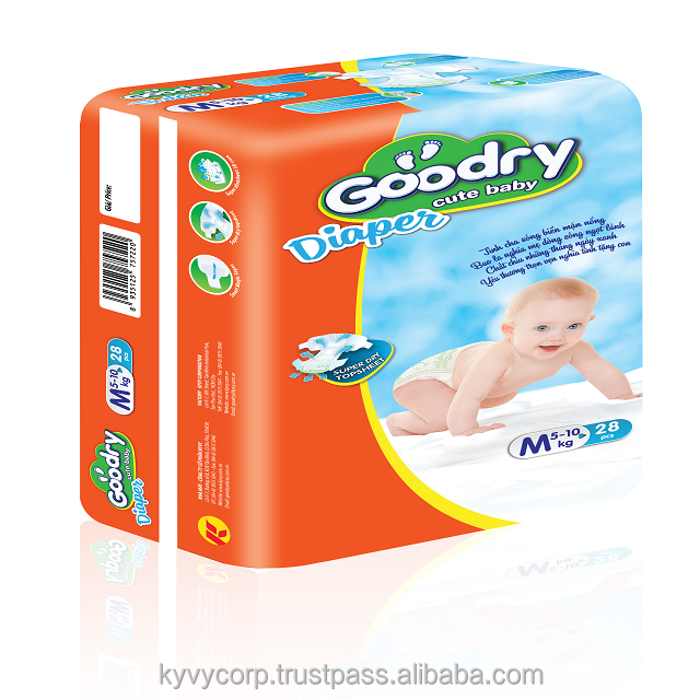 Fashionable baby diaper with GOODRY brand from KY VY Corp