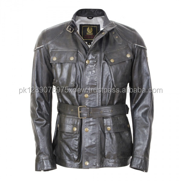 Ladies stylish manufacture cowhide leather jackets, Women leather jacket with belt, 2017 collar blank popular leather jacket