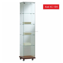 Modern Design Full Glass Display Cabinet , Shopfitting Display , Glass Showcase