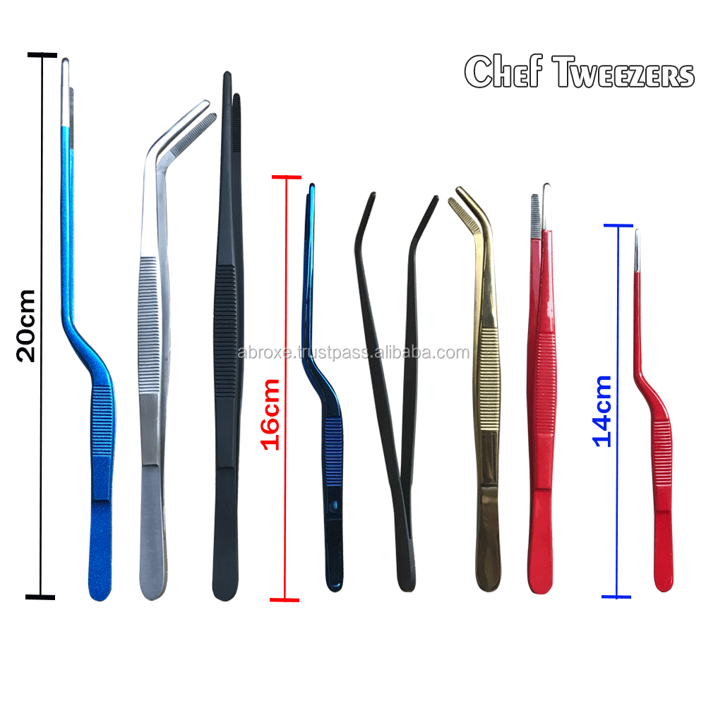 Hotel Kitchen Utensils/Chef Precision Tweezers Offset 20cm