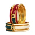 Gold Plated Multicolor Bangle Set Of 6 Jewellery