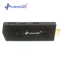 MEEGOPAD Ultra Mini PC Quad Core Compute Stick Windows10\UBUNTU HD&MI/ USB2.0
