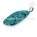 Latest design turquoise gemstone pendant 925 sterling silver pendants wholesale jewelry online