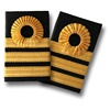 NAVAL EPAULETTE NAVAL COMMANDER 1 CURL 3 BARS SHOULDER BOARD UNIFORM EPAULETTES