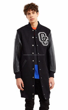 Long Urban Street Wear Varsity Jacket