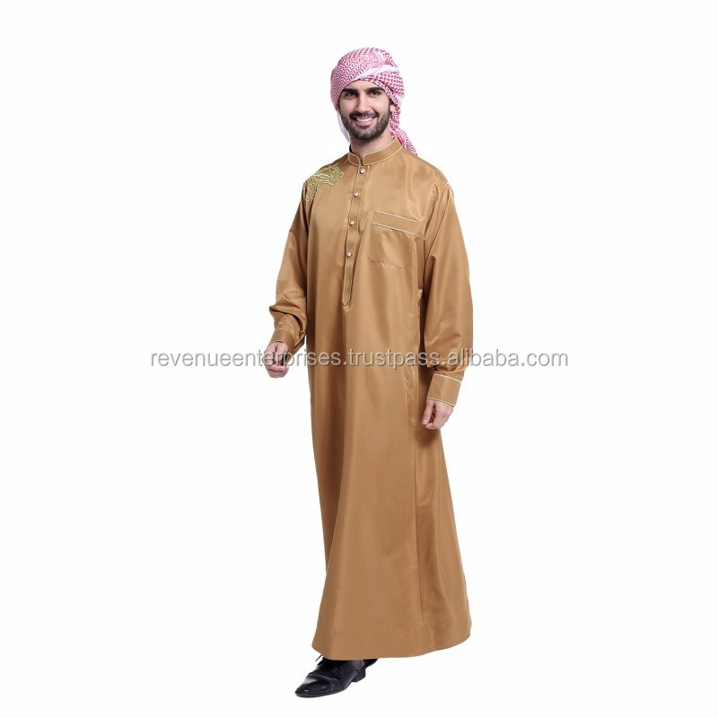 Light weight shiny fabric men's abaya/Light weight high quality men's kaftan