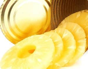canned queen pineapple in light or heavy syrup - good taste and golden yellow