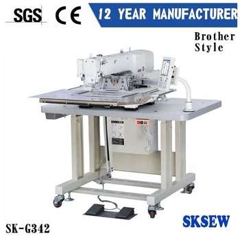 High speed electronic programmable pattern automatic sewing machine