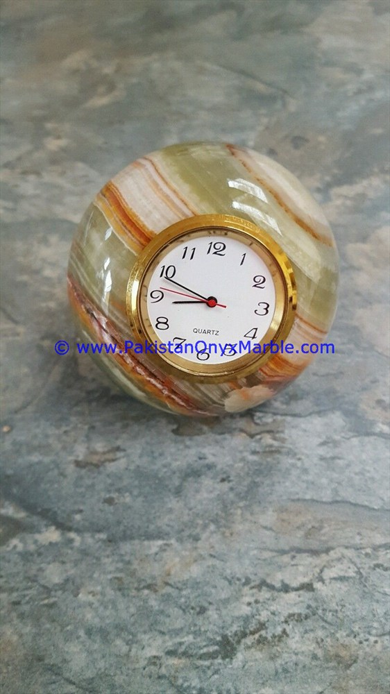 NATURAL COLOR ONYX PATCH WORK CLOCKS