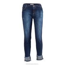 Frayed Blue Jeans - Fashion Style Different Look Jeans