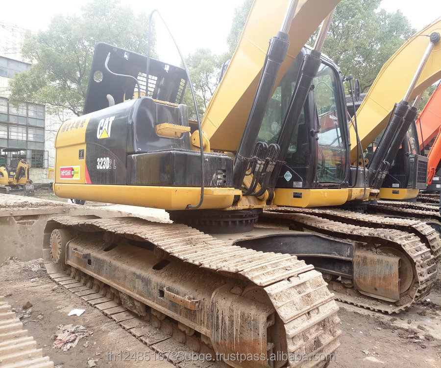 used cat 323D digging Excavator long boom excavator for sale
