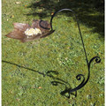 Leaf Shaped Bird Bath With Stake | Outdoor Bird Feeders| Leaf Bird Bath | Decorative Bird Feeders