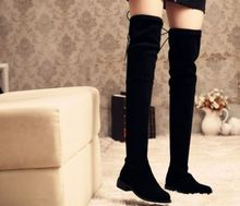 Black customized women long boots OEM supported customized logo woleale