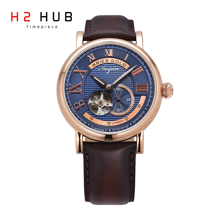 ARIES GOLD AUTOMATIC SKELETON MEN WATCH 903