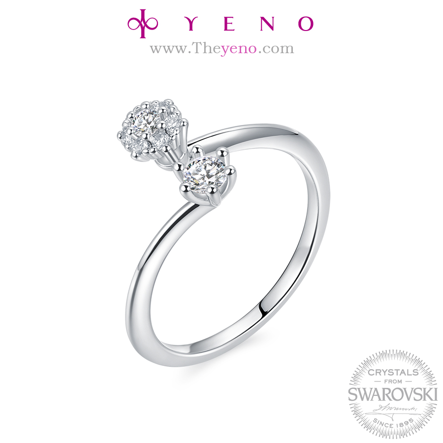 New design korean YENO Crystals from Swarovski Jewelry Women finger ring Special Gift fashion jewelry Wedding Ring Special Gift