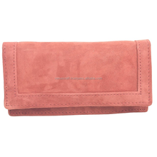 Real leather hand madereal fur and leather wallets & purse for women