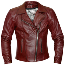 PAKISTAN GENUINE LEATHER MOTORBIKE JACKET MADE OF HIGH QUALITY FINEST COWHIDE LEATHER REDDIS SHADE/MEHRON LEATHER FASHION JACKET