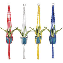 Plant Hanger Indoor Outdoor Hanging Planter Colorful Nautical Rope