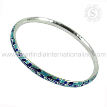Beautiful enamel silver bangle 925 sterling silver wholesale bangles indian jewelry suppliers
