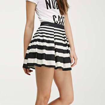 Zega Apparel Custom made Zebra style Skirt