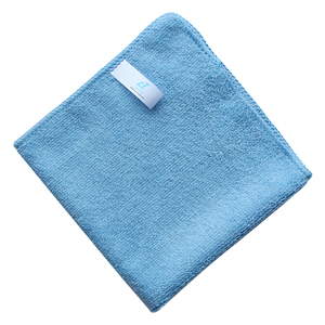 Manufacturer High Quality Microfiber 35x35cm Square Ultra Soft Warp Knitted Green Cleaning Wipes