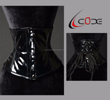 Wholesale Body Shaper Black PVC Leather black red Gothic Corset