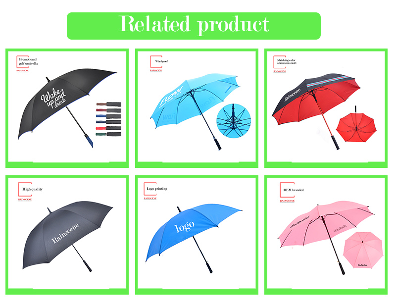 G27-09 advertising golf umbrella customized logo printing umbrella golf