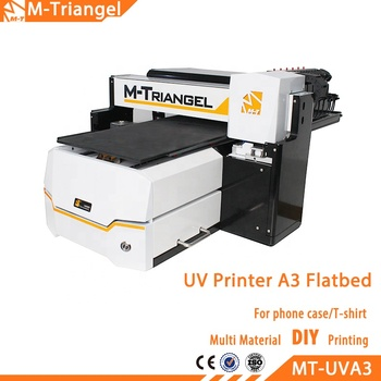 Wholesale A3 Flatbed UV Printer For Mobile phone T-Shirt PVC Wood Glass