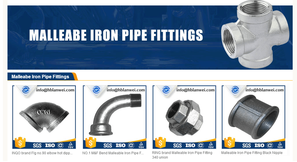Steel pipe fitting/Malleable pipe fitting Black Alibaba hot selling