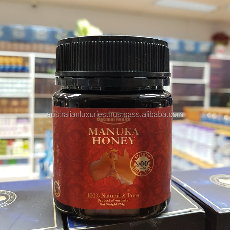 Optimal Health 100% Pure Manuka Honey 250g Certified Natural MGO 900+ HACCP GMP