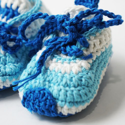 Handmade Sporty baby Shoes With Blue Colour