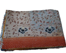 Stunning Amazing Vintage Kantha Master Rare Piece Rug Throw Heavy Unique Old Boho Bohemian Indian Hand stitched Kantha Quilt