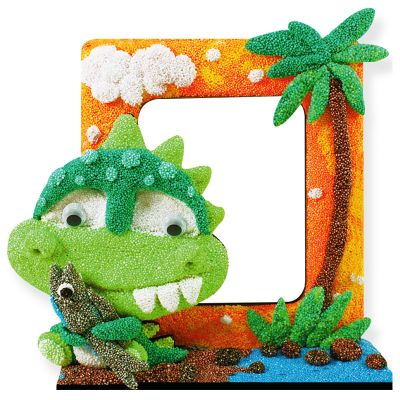 New Arrival DIY Craft Modeling Foam Clay Photo Frame Kit - Baby Dino