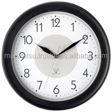 Easy to use and High quality cheap wall clock Wall-mounted radio clock with multiple functions