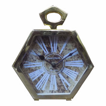Customized shape brass antique high quality 7'' inch Table clock