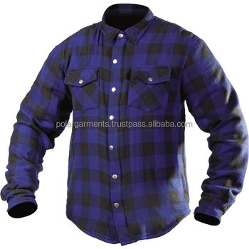 OUTER SHELL COTTON IN DIFFERENT COLORS / INNER ARAMID FLANNEL SHIRT / BLUE AND BLACK CHECKED FLANNEL SHIRT