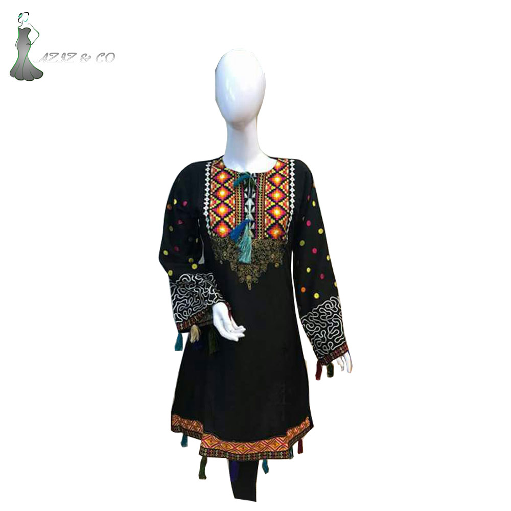 Top Design Embroidery Casual Wear Dress
