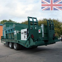Addfield Incinerator on an Agricultural Trailer for fast response incineration. To incinerate wide range of solid waste.