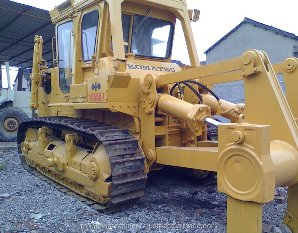 Fuel-efficient komatsu machine D155 bulldozer for sale, used komatsu bulldozer at low working hours