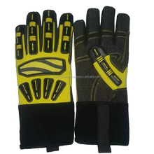 Custom PU Leather Craft Mechanics Gloves/Industrial Mechanics Gloves/mechanical work gloves