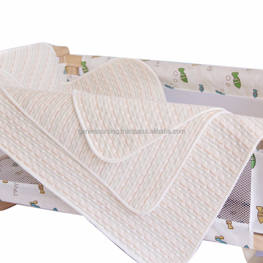 Baby Waterproof Mat Infant Cotton Crib Mattress Pad Cover Protector , Water Absorption Baby Changing Mat Breathable - Jozy Mattress | Jozy.net