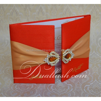 Wedding Box Luxury Silk Folio Top Quality Silk Folio Invitation Wedding Logo