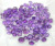 Natural faceted purple amethyst AAA qaulity mix shape lott
