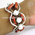 Scenic multi gemstone bangle silver jewellery 925 sterling silver jewelry wholesale online