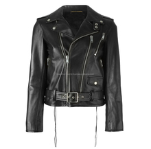 Black biker women leather jacket, Custom demands accepted