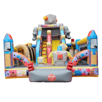 wholesale price outdoor Robots factory children playground equipment Inflatable Obstacle Course equipment