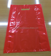 plastic colour patch handle carrier shopping bags
