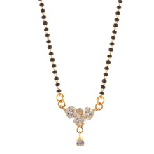 Zephyrr Fashion Pendant Mangalsutra with Zircons for Women