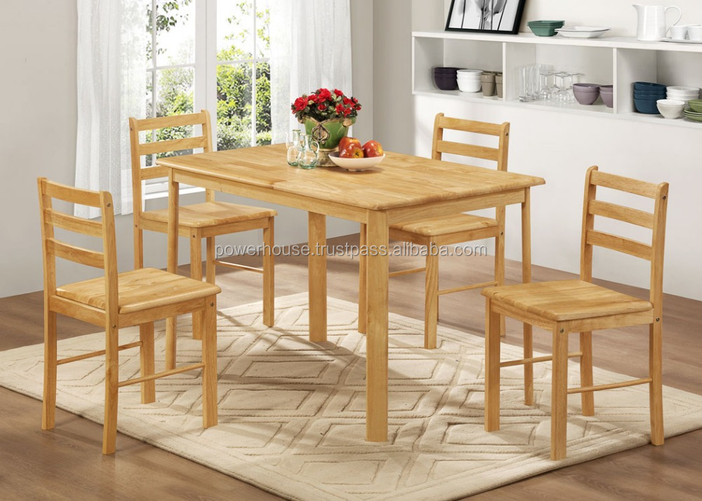 Wooden Furniture Made in Malaysia Modern Dining Table Set STR 311