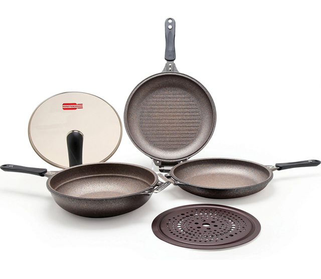 Monster Cooker Kitchen Fring Pan Double side Pan Kitchenware Set